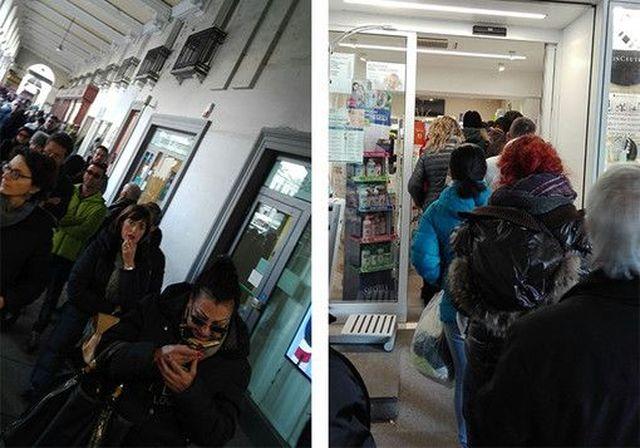Una-sola-farmacia-di-turno-a-Cuneo-per-Santo-Stefano,-code-sotto-i-portici-di-Piazza-Galimberti